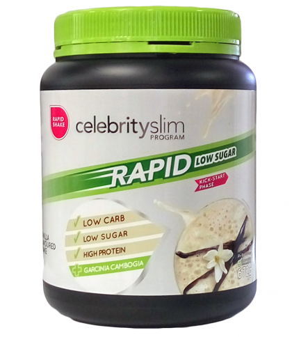 Celebrity Slim Rapid - Low Sugar Vanilla 672g